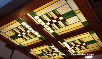San Antonio Frank Lloyd Wright Stained Glass