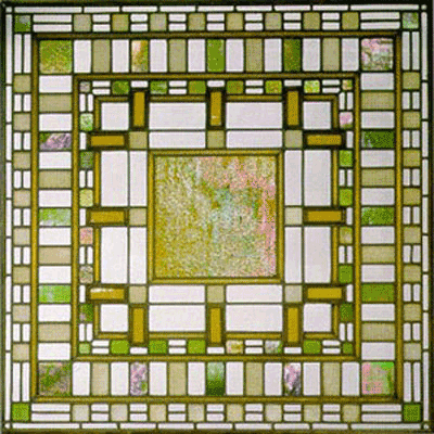 Frank Lloyd Wright Inspired Stained Glass Austin