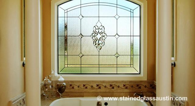 Austin Stained Glass Bathroom Windows