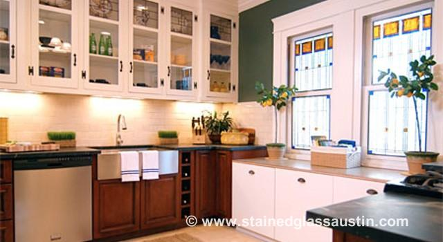 Austin Stained Glass Kitchen Windows | Stained Glass AustinStained ...