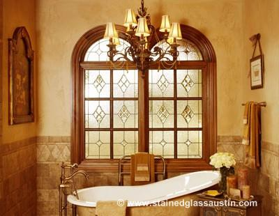 stained glass bathroom window bryan-college station