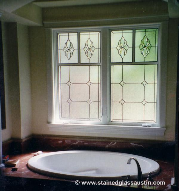 Bathroom Stained Gl Windows Austin