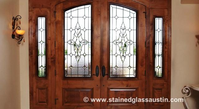 Stained Glass Austin Entryway Doors & Austin Stained Glass Entryway Doors | Scottish Stained Glass ...