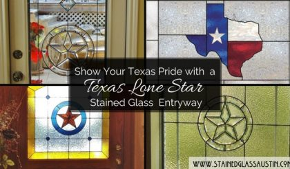 texas star stained glass entry austin