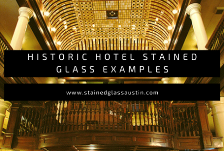 historic stained glass hotel austin