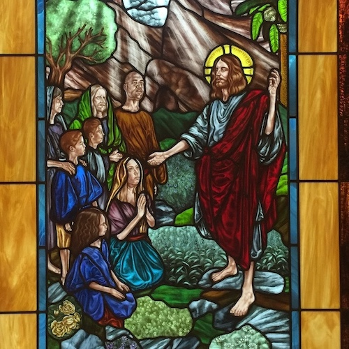 religious stained glass design austin