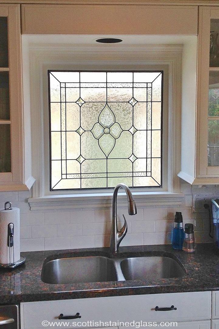 beveled glass kitchen austin